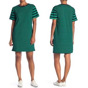 Cotton Emporium Variegated Stripe T-shirt Dress